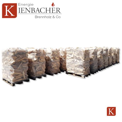Brennholz palettiert