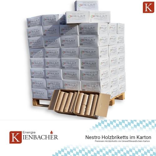 Nestro Holzbriketts im Karton